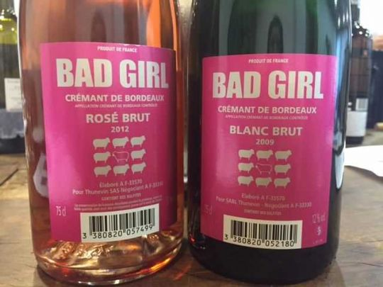 Bad Girl Crémant de Bordeaux by Jean Luc Thunevin & Murielle Andraud